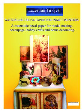 Inkjet Decal Paper, Waterslide transfer, DIY Crafts